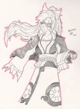 Guilty Gear Xrd Sign Revelator - Baiken [Fan Art]