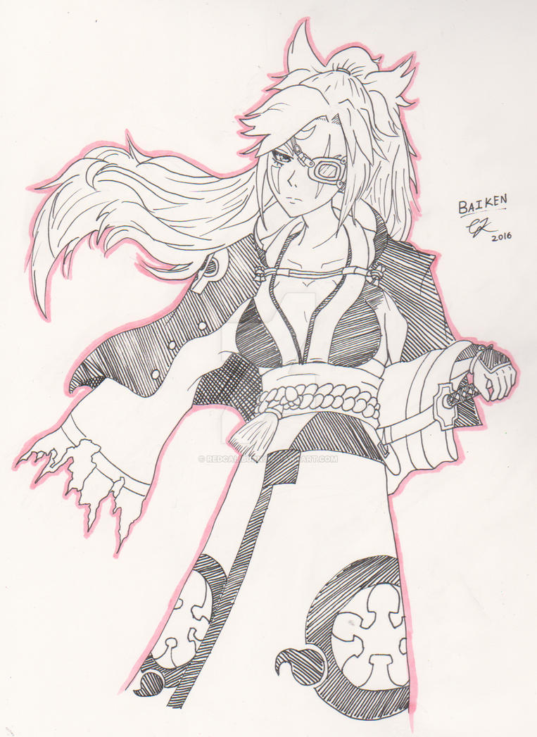 Guilty Gear Xrd Sign Revelator - Baiken [Fan Art] by RedCaliburn