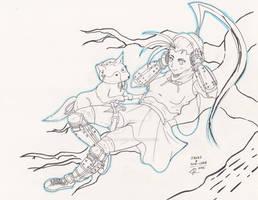 Street Fighter V - Ibuki And Don Chan [FanArt]