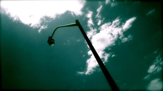 Streetlamp middayclouds