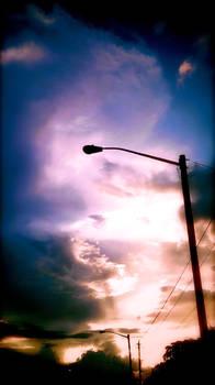 Sunsetlamp cloudbanks