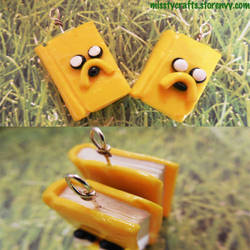 Jake the Dog Book Charm by Misstymountains