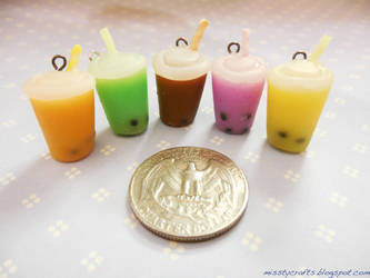 Bubble Tea Charms by Misstymountains