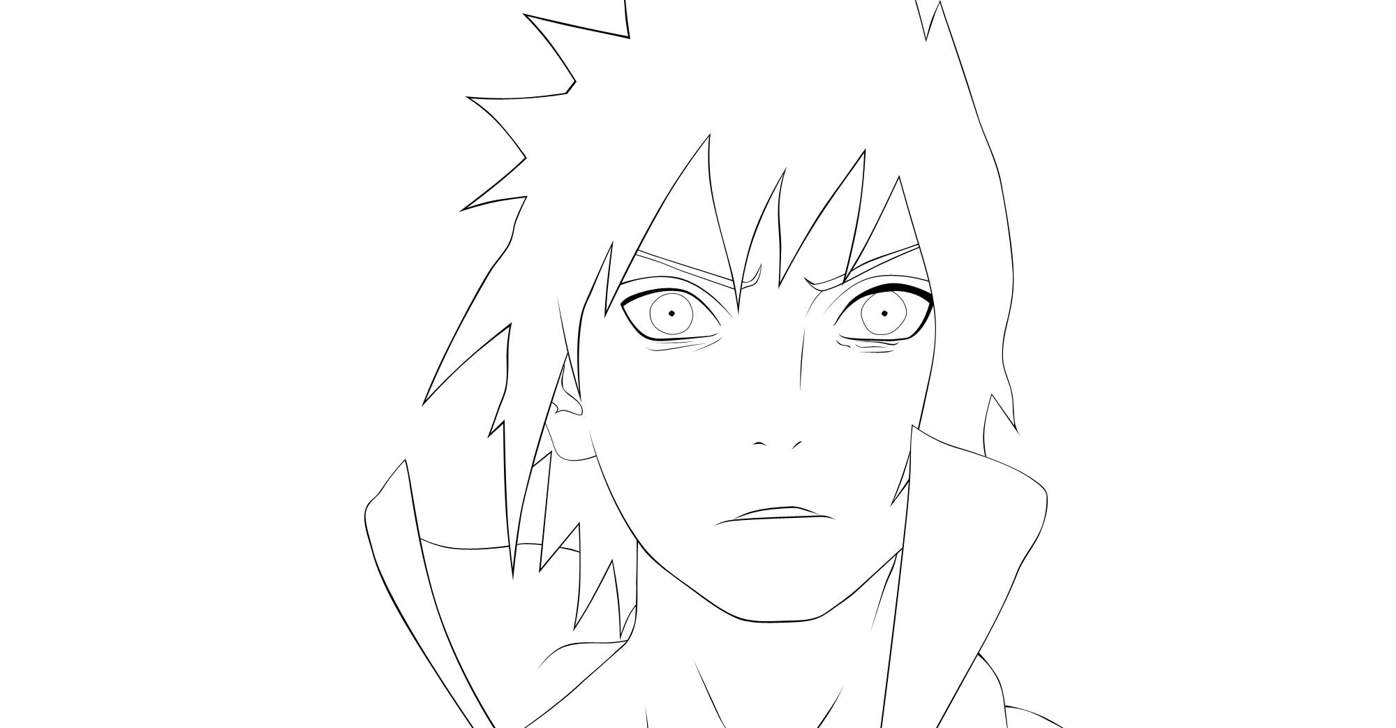 Sasuke Lineart : Sasuke lineart by gokaxpl on deviantart