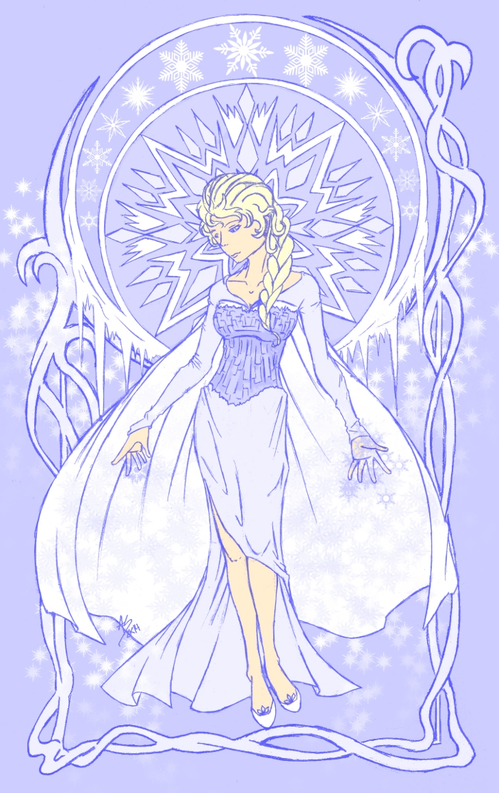 Elsa - Winter by fenrirsknight