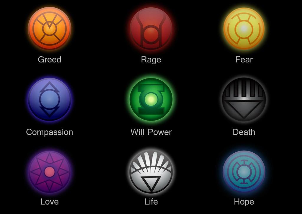 Lantern corps logos