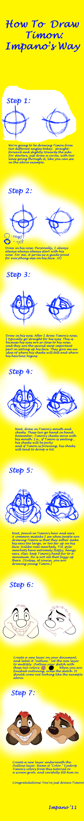 How To Draw Timon: A Tutorial by Impano