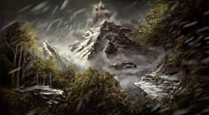 Mountain Castle by Bezduch