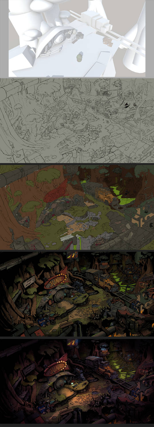 Making of 'JunkTown' by Bezduch