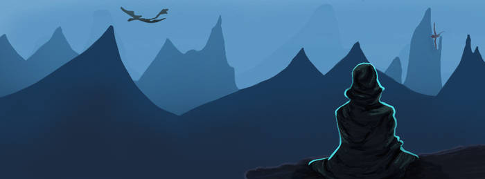 17. fb banner, mountains and dragons