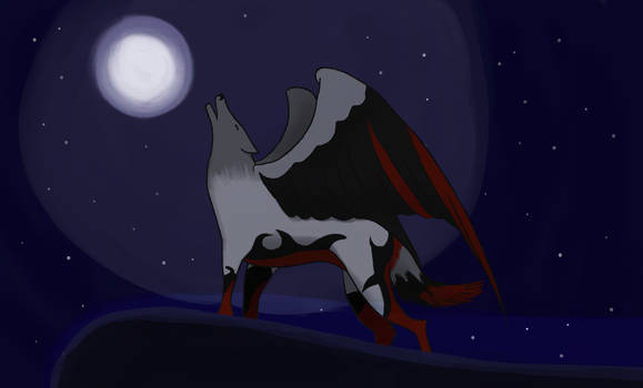 Winged wolf ArtTrade