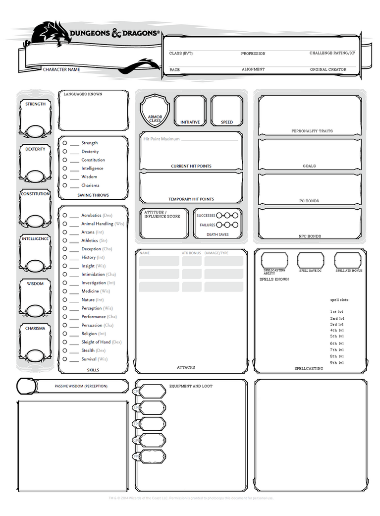 NPC sheet by MariekeSmit