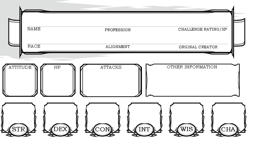 simple NPC sheet by MariekeSmit