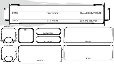 roleplay NPC sheet