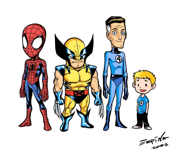 Pictures of Cute Cartoon Superheroes Marvel - #rock-cafe