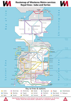 Routemap of Westeros Metro