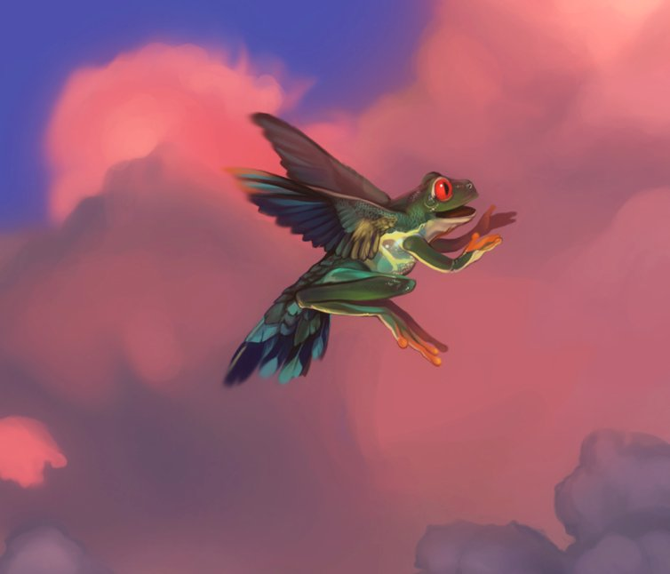 Flying Frog by WeijiC