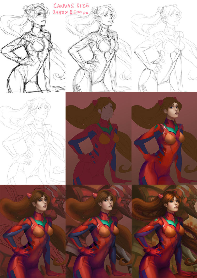 Asuka (Step-by-Step) by WeijiC