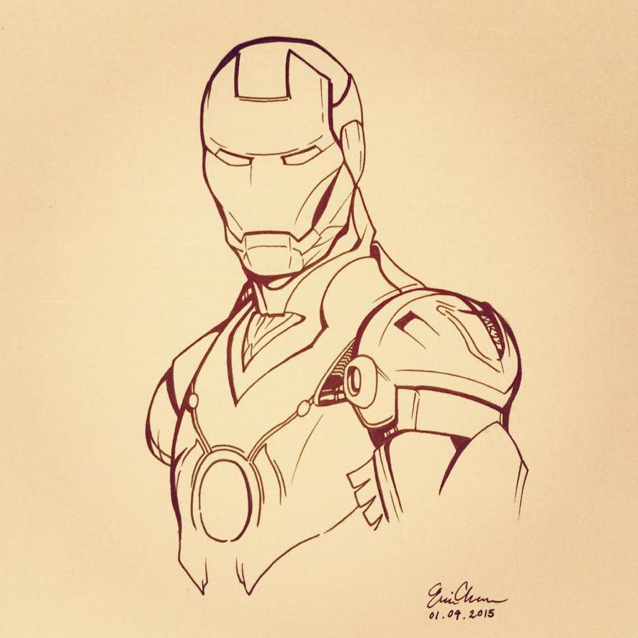 Iron Man Inks by WeijiC