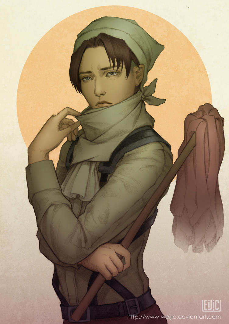 Cleaning Levi by WeijiC