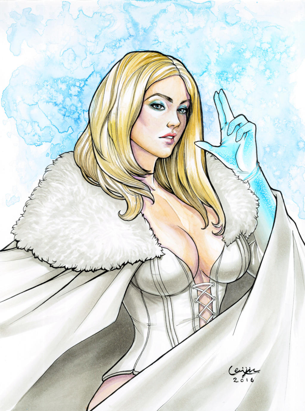 Emma Frost Commission by WeijiC