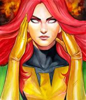 Jean Grey Phoenix Portrait by WeijiC