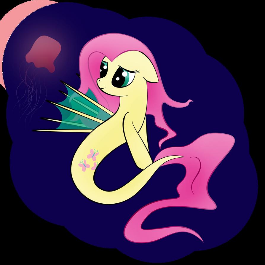 Fluttershy seapony by zomgitsalaura