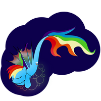Rainbowdash is a LAZY seapony by zomgitsalaura