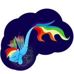Rainbowdash is a LAZY seapony