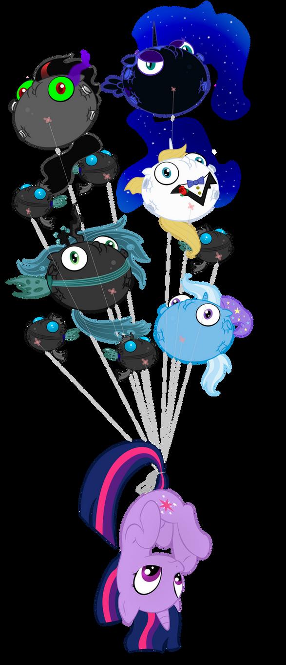 Evil Balloon Attack by zomgitsalaura