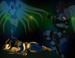 Battle for Freyja by MischiArt