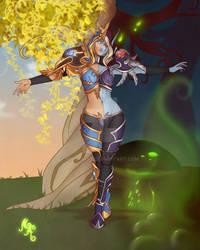 Warcraft Transition:  Sylvanas Windrunner by MischiArt