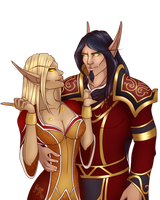 Commission:  Naiya and Isirion by MischiArt