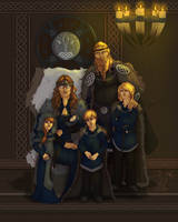Commission:  Tirigand Family by MischiArt