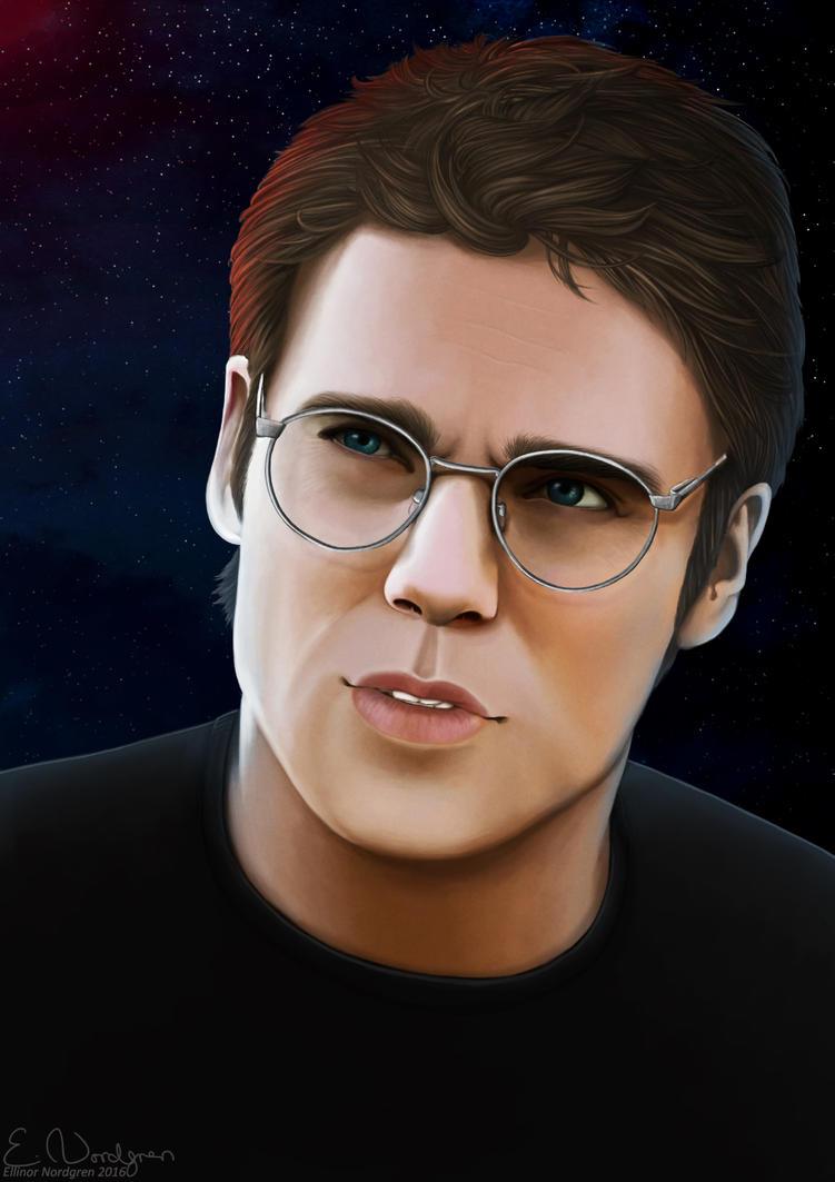 Stargate Portrait Project - Daniel Jackson by EllinorNordgren