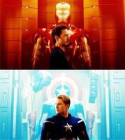 Tony Stark and Steve Rogers by NeroManka