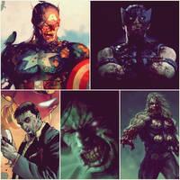 Zombie avengers by NeroManka