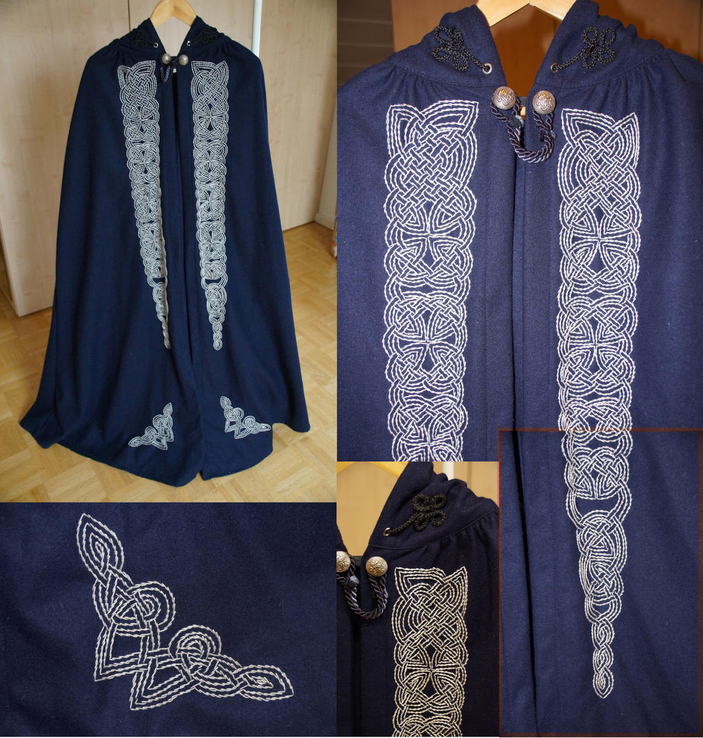 Celtic Knotwork Cloak by bifishiar
