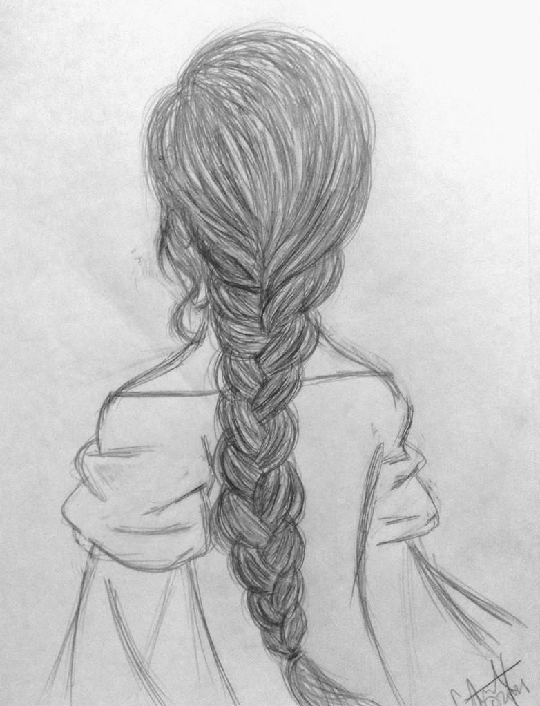 how to draw a braid i draw fashion - 782×1022