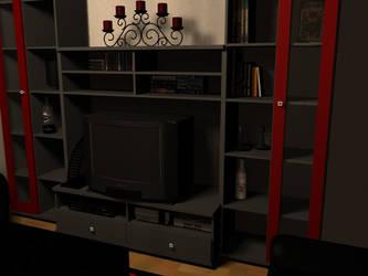 wohnzimmerszene detail by fbb