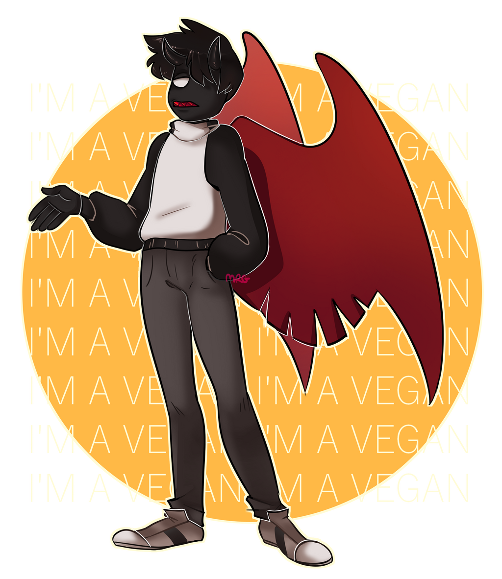 i'm a vegan - Commission by Merengeee