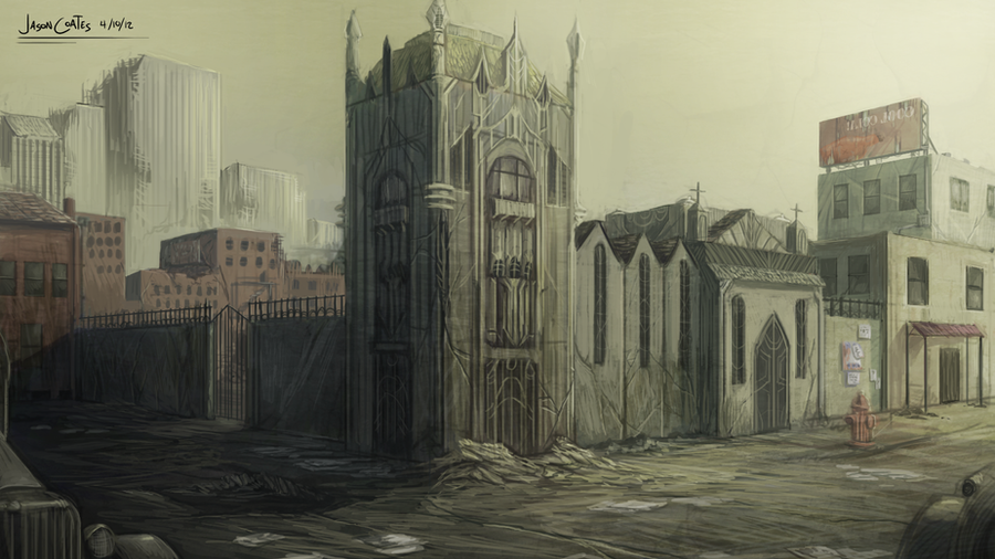 Project Ranch Hand Concept Art: Church Street by AtTheSpeedOfFetus
