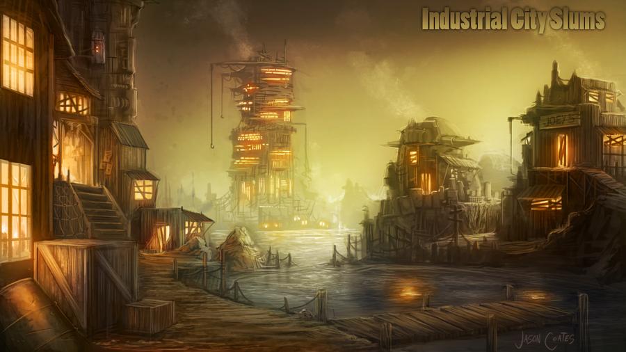 Industrial City Slums by AtTheSpeedOfFetus