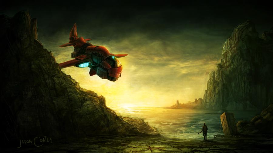 SciFi Landscape by AtTheSpeedOfFetus