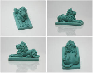 Miniature Lion Statue by gaernavi