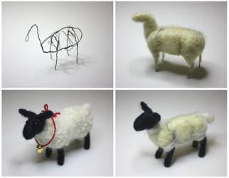 Needle felted sheep by gaernavi