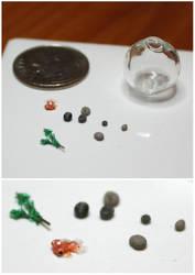 Miniature goldfish and bowl by gaernavi