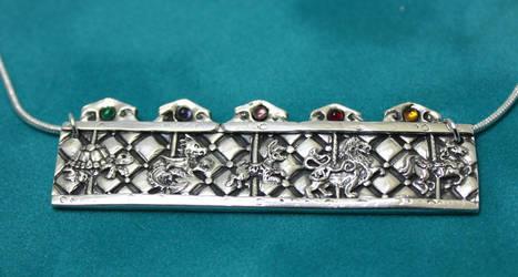 Silver carousel pendant by gaernavi