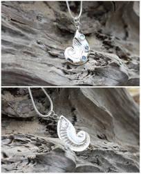 Sapphire Nautilus Pendant by gaernavi