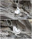 Sapphire Nautilus Pendant